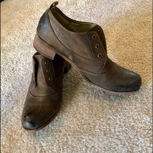 Leather Ankle Booties, size 10